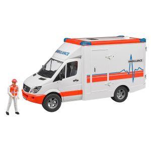 Bruder Toys 2536 - Véhicule ambulance Mercedes Benz Sprinter avec ambulancier