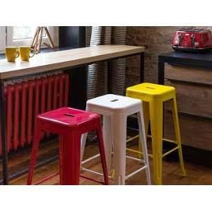 Beliani 2 tabourets de bar jaune de 76 cm Cabrillo
