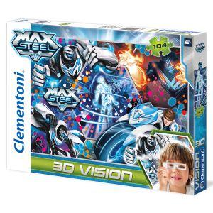 Clementoni Puzzle Effet 3D : Max Steel 104 pièces