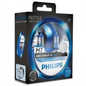 Philips 2 Ampoules H7 ColorVision Bleu