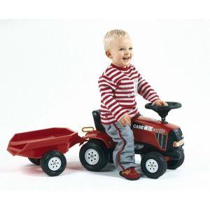 Falk Porteur Tracteur Case IH CVX 120 + remorque