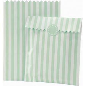 10 sachets en papier rayés