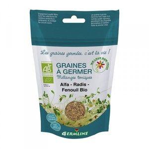 Germ'line Graines à germer Bio Alfa, Radis, Fenouil 150g