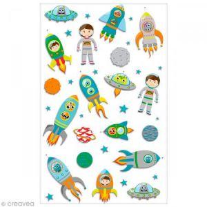 Maildor Stickers 3D Cooky fusées spatiales x 19