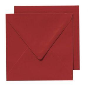 Panduro 10 Enveloppes Cartes Rouge - Carrées pré-pliées - 155x155 cm - Carrées pré-pliées - Poids 240 g - 155x155 cm - Paquet de 10 enveloppes et 10 cartes