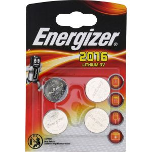 Energizer Pile bouton CR 2016 lithium 90 mAh 3 V 4 pc(s)