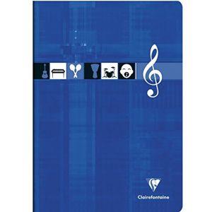 Clairefontaine 3134C - Cahier Musique Metric 210x297, 96p./48 feuilles 90 g/m² piquées, ligné + 10 portées