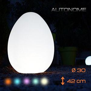 Batimex Oeuf lumineux multicolore sur batterie - Ø 30 x h 42 cm