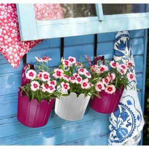 Emsa Landhaus - Mini pot de fleurs à suspendre Ø15,5 x 22 cm