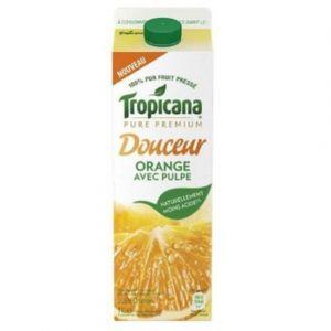 Tropicana Jus d'orange avec pulpe - 100% pur fruit pressé - La brique de 1L