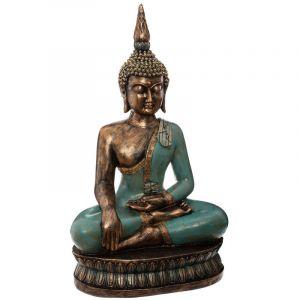 """Atmosphera Statue en Résine """"Bouddha Assis"""" 72 cm Multicolore"""