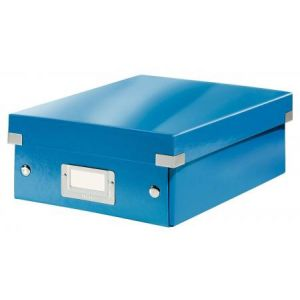 Leitz 6057-00-36 - Boîte de rangement Click & Store, petit format avec compartiments, en PP, coloris bleu métallique