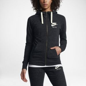 Nike Sweatà capuche entièrement zippé Sportswear Gym Vintage pour Femme - Noir - Taille L - Femme