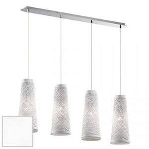 Ideal lux Suspension 4 lampes design Basket Chrome Métal 082561