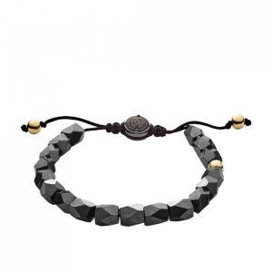 Diesel Bracelet Bijoux DX1136710 - Bracelet Perles Hematite Gris Homme