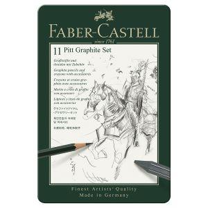 Faber-Castell Set Pitt Graphite 12 Pièces Boite Métal