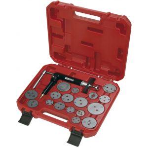 KS Tools 150.2000 - Jeu d'outils pour étrier de frein + pistolet pneumatique - 18 Pièces