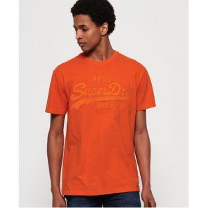 Superdry T-shirt ajusté avec logo appliqué Vintage - Couleur Orange - Taille L
