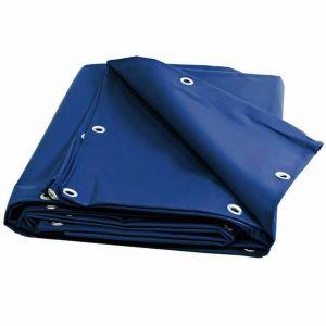 Univers du Pro Bâche Charpente 6 x 4 m Bleue 680 g/m2 PVC Haute qualité