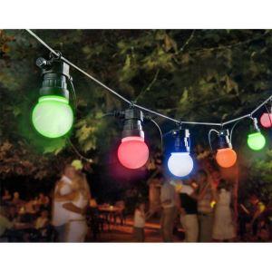 Guirlande électrique ampoules multicolores