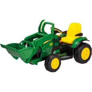 Simba Toys Tracteur électrique John Deere avec chargeur