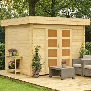 Outdoor Life Products Ankara - Abri de jardin en bois 28 mm 9 m2