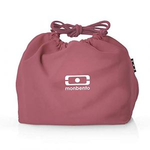 monbento MB Pochette Blush Lunch Bag Rose/Blanc - Sac bento Polyester - Idéal pour Les Lunch Box MB Original MB Square & MB Tresor