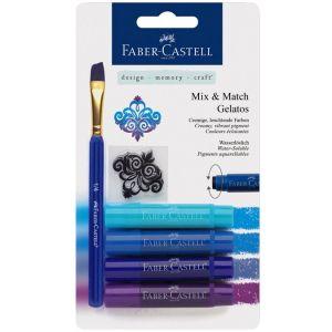 Faber-Castell Crayons Gelatos 4 nuances de bleu
