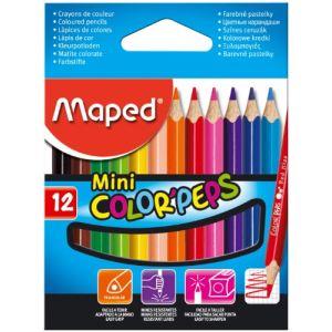 Maped 12 Mini Crayons de couleur Color'peps assortis