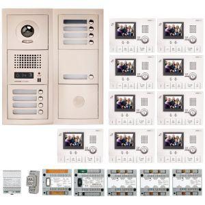 Aiphone GTV9E - Pack vidéo 9 BP avec 9 moniteurs GT1CL préprogrammés (200318)