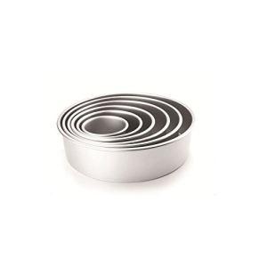 Ibili Moule rond extra profond en aluminium (10 x 10 cm)
