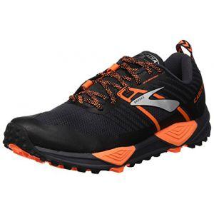 Brooks Cascadia 13, Chaussures de Cross Homme, Multicolore (Grey/Black/Orange 026), 44 EU