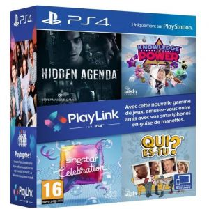 Pack jeux PlayLink PS4 : Qui es tu ? + Knowledge is Power + SingStar Celebration + Hidden Agenda sur PS4