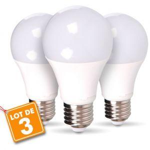 V-TAC Lot de 3 ampoules LED E27 9W 2700K blanc chaud 36bb6f679ab5