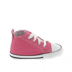 Converse Baskets montantes enfant CHUCK TAYLOR FIRST STAR CANVAS HI rose - Taille 17,19,20