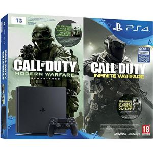 Sony PS4 1 To Slim + Call of Duty : Infinite Warfare + Modern Warfare Remastered (code de téléchargement)