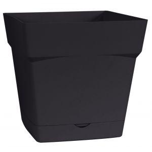 Eda Plastiques Pot carré Toscane 18cm - Contenance 3,4l - Gris anthracite