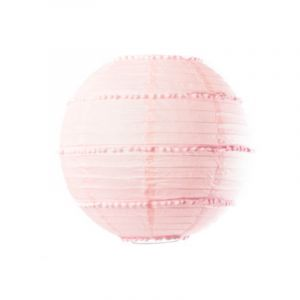 Lanterne avec pompons rose 35 cm Taille Unique