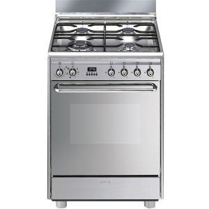 Smeg SCB60MX9 - Cuisinière gaz 4 brûleurs avec four électrique