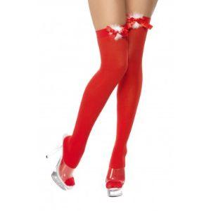 Bas rouge avec noeud de Noël