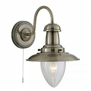 Searchlight Applique maritime FISHERMAN aspect laiton ancien