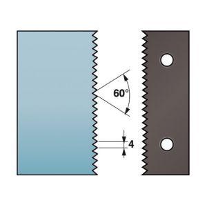 Diamwood Platinum Jeu de 2 contre-fers profilés Ht. 88 x 5 mm enture multiple 4 mm A590.134 pour porte-outils de toupie