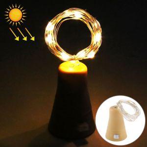 WeWoo Guirlande LED 1m lumière de fil de cuivre blanc chaud fil de cuivre, 10 SMD 0603 lampe décorative de fée avec bouchon de bouteille, 5v DC