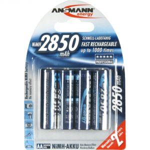 Ansmann Piles rechargeables LR06 Mignon x4