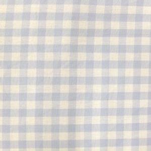 Craftine Tissu Vichy Grands carreaux 10 mm Bleu ciel