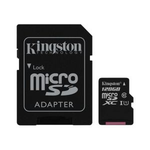 Kingston SDC10G2/128GB - Carte mémoire microSDXC 128 Go Class10 UHS-I + adaptateur SD