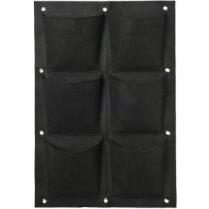 Ubbink Mur végétal en feutrine 6 poches plastifiées 50 x 72 cm