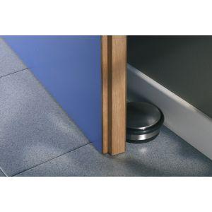 Mottez Bloque porte - Butée GPI - Nickelé mat - Diamètre 100 mm