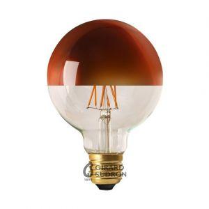Girard sudron Ampoule Globe à filament LED E27 8W D95 calotte bronze