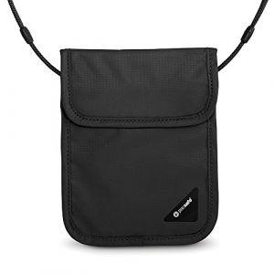 PacSafe Coversafe X Pochette Tour de Cou, 18 cm, Noir